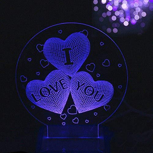 3D Nachtlicht Stecker Radio Licht Schlafzimmer Nachttischlampe Kreative Traum Romantische Mini Baby Fütterung Energiesparende Bunte Lichter B 11 * 11 * 5 Cm