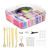 32 colori Argilla Polimerica Argilla Effetto Morbido, kit di argilla colorata fai da te con strumenti di modellazione Set di utensili da modellare