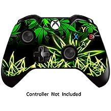 GameXcel ®  Controlador Xbox Una piel - Xbox personalizada 1 mando a distancia de vinilo pegatinas - Modded Xbox One Accesorios cubren la etiqueta - Weeds Black [ Controlador no está incluido]