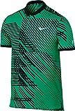 Nike Rf M Adv Polo Premier Camiseta de Manga Corta Línea Roger Federer de Tenis, Hombre, Verde (Stadium Green / Black / White), S