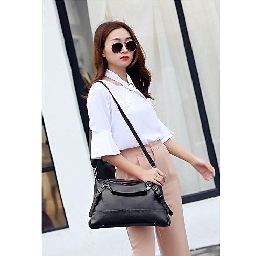 ANNE Donne Trendy Boston Handbags Cuscino Spalla Black
