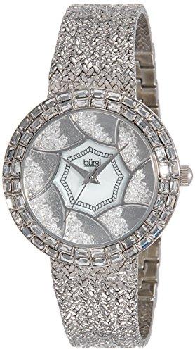 51nsPbK6omL - Burgi Mother Of Pearl Women BUR118SS watch