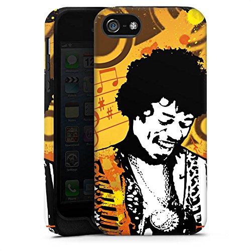 Apple iPhone X Silikon Hülle Case Schutzhülle Musik Jimi Hendrix Gitarre Tough Case matt