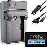 Batterie + Chargeur (Auto/Secteur) EN-EL24 pour Nikon 1 J5, Nikon 1J5 / Nikon DL18-50, DL24-85 [Li-Ion - 7.2V - 800 mAh - avec Infochip]