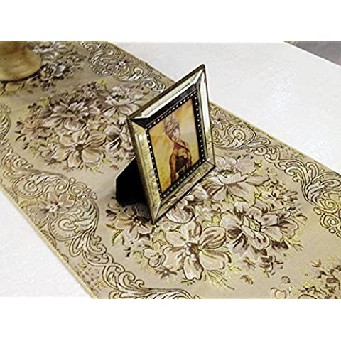 X&L Fiori tessili tavolino runner tavolo moda oro seta tabella corridore tabella bandiera , yellow - Selvaggio Seta Erbe