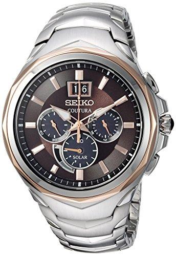 Seiko Coutura de los Hombres del cronógrafo de Cuarzo Acero Inoxidable Casual Reloj, Color: Dos Tono (Modelo: ssc628)