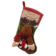 Idea Regalo - Calza di Natale BasicStock Calze da appendere per decorazione natalizia, XXL 45 (Renna)