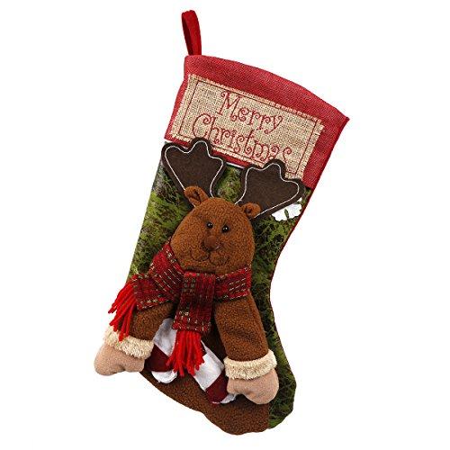 Scheam 3d calze natalizie da appendere calze da appendere per decorazione natalizia xmas xxl 45 (renna) tree bag calzini hanging regalo calze