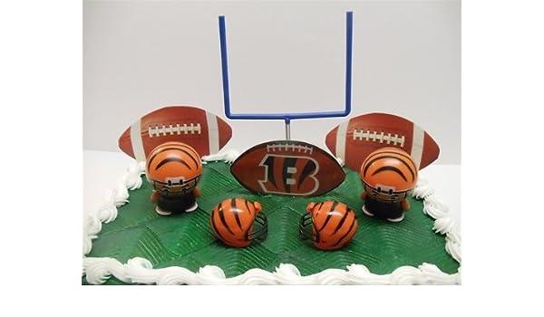 Pleasant Nfl Football Cincinnati Bengals Birthday Cake Topper Set Featuring Personalised Birthday Cards Paralily Jamesorg