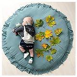 Krabbelmatte Cartoon Tier Baumwolle Waschbar Kind Krabbeln Spielmatte Lace Round Teppich Indoor...
