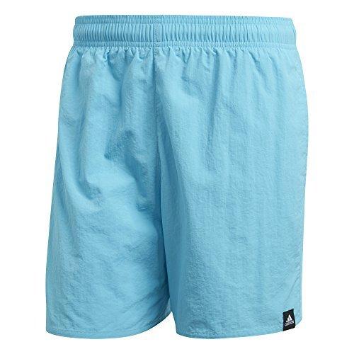 Schwimmen Shorts Adidas (adidas Herren Solid Short Length Badeshorts, Bright Cyan, S)