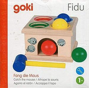 Goki- Puzzles de maderaPuzzles de maderaGOKIFidu, Agarra el ratón, Juego de Golpear, Multicolor (Gollnest & Kiesel WM914)