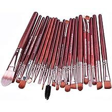 Tongshi herramientas de maquillaje Maquillaje neceser Kit lana hacer arriba cepillo conjunto de 20 piezas