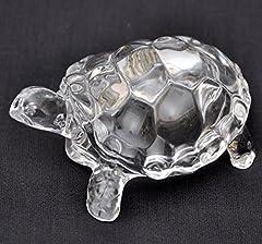Idea Regalo - Petrichor Fengshui Vastu originale trasparente cristallo tartaruga per pace e benessere, Tessuto, Clear (Small)