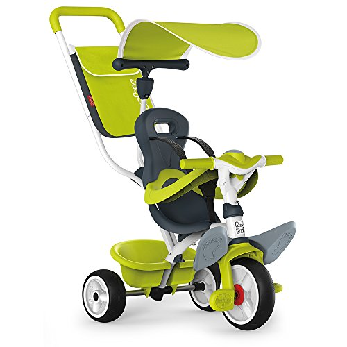 Smoby - 741100 - Tricycle Baby Balade 2 - Tricycle Evolutif avec Roues Silencieuses - Dispositif...