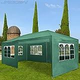 miadomodo Gazebo tendone da giardino esterno 3 x 6 m colore a scelta (verde)