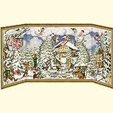 Coppenrath Wonderful Christmas Time mit Schiebetür Details Traditionelle Deutsche Adventskalender 68cm breit x 30cm