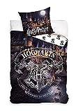 Harry Potter HP183016B Hogwarts Wende-Bettwäsche Set 140 x 200cm