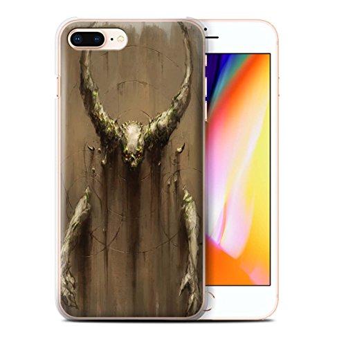 Offiziell Chris Cold Hülle / Case für Apple iPhone 8 Plus / Geist/Ghul Muster / Dunkle Kunst Dämon Kollektion Hörner