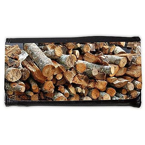 Portafoglio Borsellino portafoglio // M00158551 Bois Stack Pile Texture Brown // Large Size Wallet