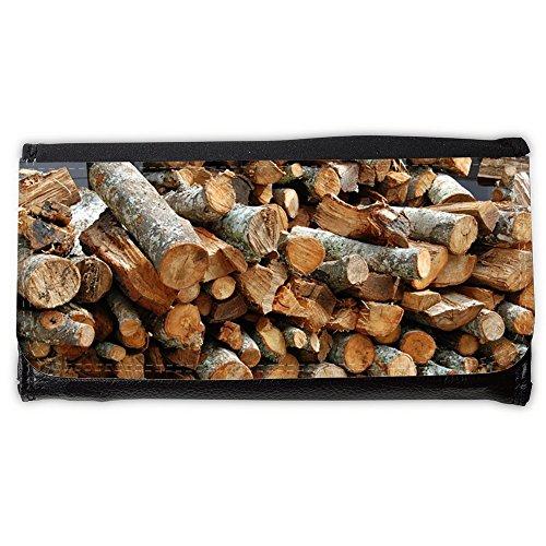 Cartera unisex // M00158551 Legno Pila Pile Texture Brown // Large Size Wallet