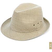 Sunbohljfjh Sombreros de Mediana Edad y Ancianos. Lana de Hombres y Mujeres. Sombrero de Jazz de Lino. Sombrero de Hombre Mayor de Mediana Edad. Sombrero de Sol de Abuelo. 56-58 cm.