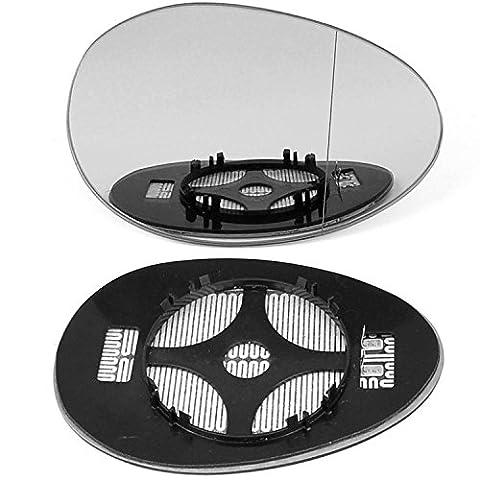 aile Droit côté conducteur, conducteur de porte à clipser pour miroir en verre,Grand Angle chauffant