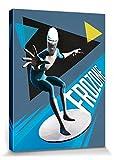 1art1 115471 Die Unglaublichen - 2, Lucius Best, Frozone Poster Leinwandbild auf Keilrahmen 80 x 60 cm