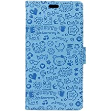 COVO® PU+TPU Faux Cuero Billetera Funda para Xiaomi Redmi Note 4X con Stand Función (Azul)