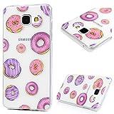 YOKIRIN A5(2016) Hülle,Galaxy A5 Case TPU Silikon Slim Fit Tasche Schutzhülle Handyhülle für Samsung Galaxy A5 2016 Durchsichtig Transparent Donuts Silikonhülle Handyhülle Handytasche Hülle