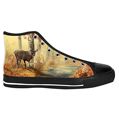Dalliy kunst hirsch Kids Canvas shoes Schuhe Lace-up High-top Footwear Sneakers B