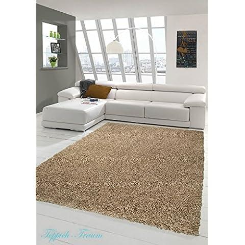 Peluda de pelo largo alfombras baratas Mocca (Shaggy sueño) Größe 160x230 cm