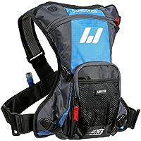 USWE Sports 201230- Zaino per borracce A2 Challenge Hydropack per adulti, dimensioni: 38,0 x 32,0 x 8,0 cm, 15 litri, colore: ciano/grigio - Nero Cargo Box