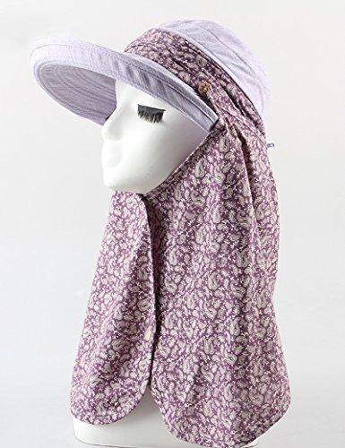 estate femminile cappello da sole Floreale Proteggere il collo Proteggere il collo grandi gronda Protezione solare all'aperto movimento cappello da sole ( colore : 7 )