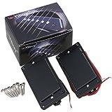 yibuy Noir Secret Micro Humbucker et cadre pour micro pour guitare électrique Noir