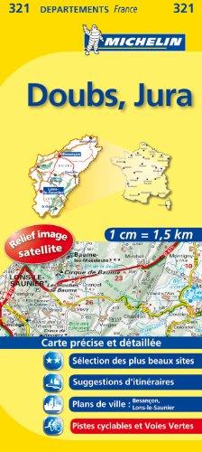 DOUBS / JURA 11321 CARTE ' LOCAL ' ( France ) MICHELIN KAART (KAARTEN/CARTES MICHELIN)