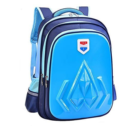 GXDSHUBAO Schulrucksack for Mädchen, Strapazierfähiges Design Und Sichere Aufbewahrung Unisex-Schultaschenrucksack Schulbedarf draussen (Color : Blue)