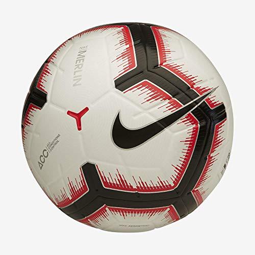Nike NK Merlin Pallone da Calcio Unisex Adulto White/Bright Crimson/Black/bla 5