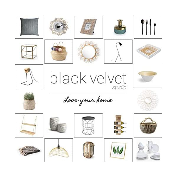 Black Velvet Studio Jarrón Vidrio Latón Decorativo Color Cristal – Florero Moderno Vintage para Hogar Oficina Sala Mesa…