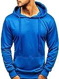BOLF Herren Kapuzenpullover Sweatshirt Basic Sport Style Casual Style J.Style 22002 Blau XXL [1A1]