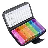 Scatola della Pillola Contenitore per Pillole con 7 Giorni multicolore Portapillole Settimanale Pill Box Organizzatore per Pillole Vitamin Olio di Pesce
