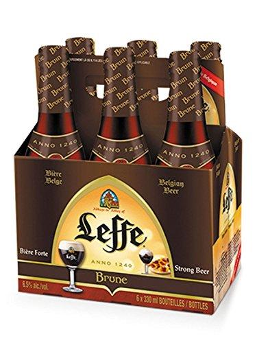 Leffe Brune belgisches Abtei stark Bier Six Pack - 6x 330ml (6,5% Vol) -[Enthält Sulfite] - Inkl. Pfand MEHRWEG (Six Pack Bier)