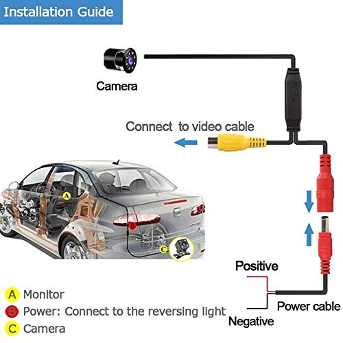 Carzex Car Rear View Reverse 8 LED NightVision Parking Camera