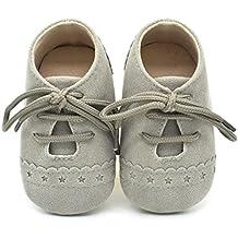 ZODOF Zapatos de bebé para niños Zapatos Antideslizantes de Suela Blanda con Cordones Zapatos Zapatillas Respirable