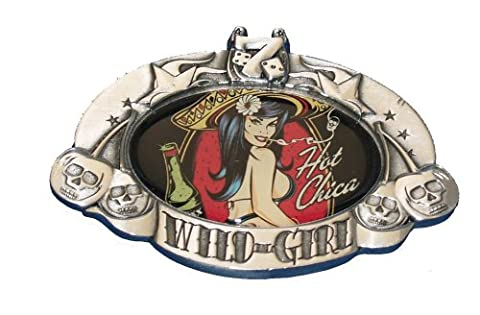 David Vicente Wild Girl Hot Chica Belt Buckle Tattoo
