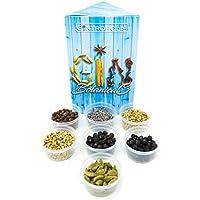 Gin Botanicals & Spices – Garnish your Gin and Tonic with 5 different Botanicals | Infuse Gin and Tonic Cocktails | Includes Juniper Berries, Allspice, Coriander, Cardamom, Lavender