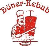 Aufkleber Döner Kebab ca. 10x10 cm rot - Hintergrund transparent