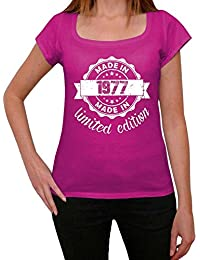 Made in 1977 Limited Edition Femme T-shirt Rose Cadeau D'anniversaire