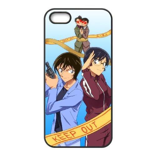 Detective Conan coque iPhone 4 4S Housse téléphone Noir de couverture de cas coque EBDXJKNBO10381