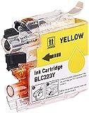 iColor Tintenstrahl-Patrone: Tintenpatrone für Brother (ersetzt LC-223Y), yellow (Kartuschen für Tintenstrahldrucker)